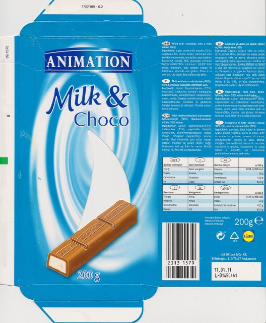 Animation milk and Choco