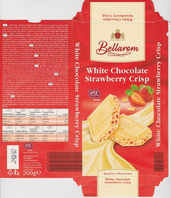 Bellarom srednie UTZ White Chocolate Strawberry Crisp