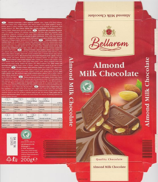Bellarom srednie pisane Almond Milk Chocolate