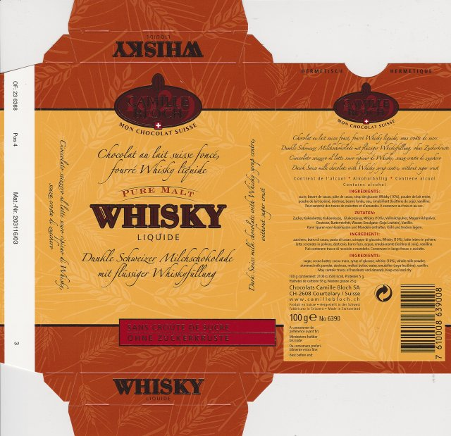Camille Bloch pion 2 Whisky liquide 1