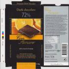 Con Amore dark 72% with a touch of orange