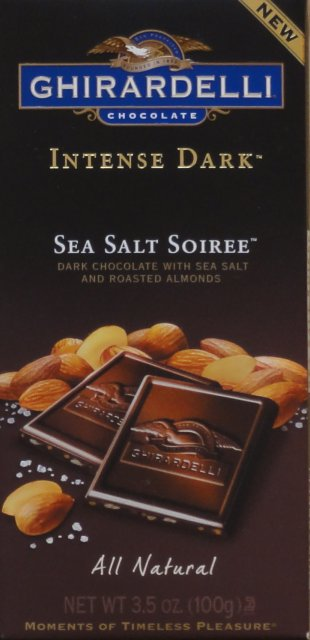 Ghirardelli 5 Intense dark Sea Salt Soiree new