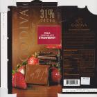 Godiva 31% milk chocolate strawberry