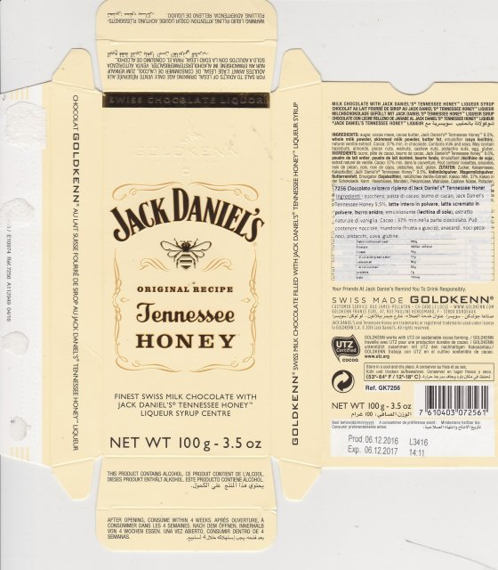 Goldkenn Jack Daniels Tennessee Honey