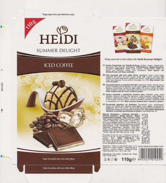 Heidi srednie Summer Delight Iced Coffee