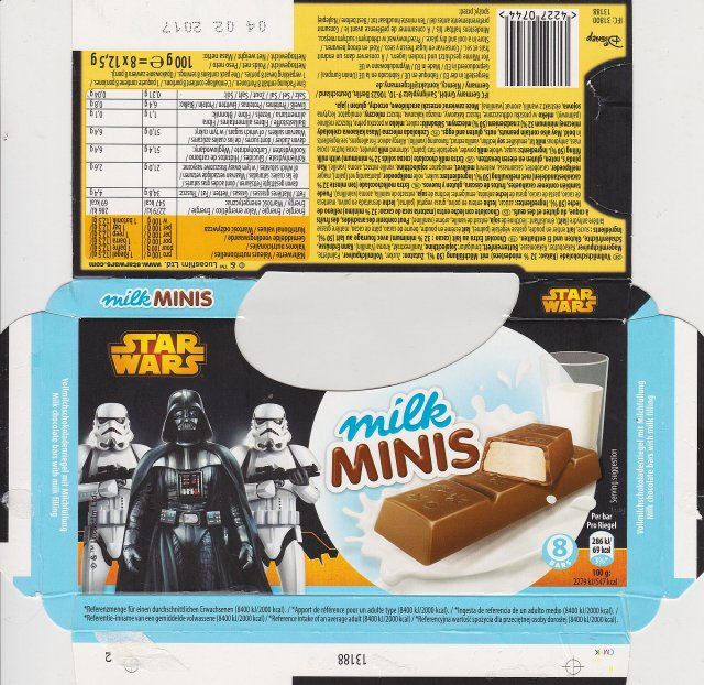IFC DE milk minis star wars 69kcal