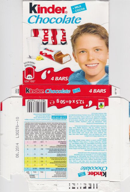 Kinder Chocolate kwadrat niebieska 70 kcal