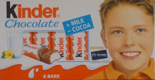 Kinder Chocolate prostokat zolta milk cocoa pij mleko_cr