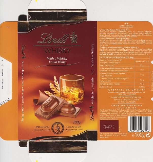 Lindt male pion 1 Whisky