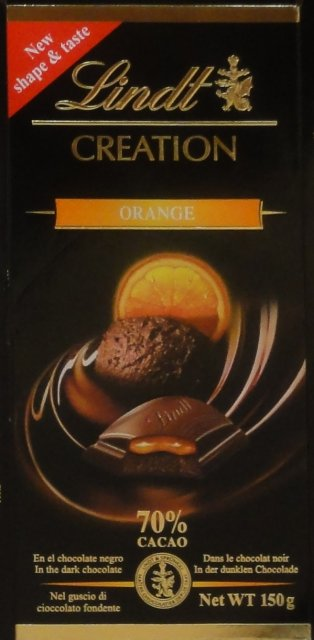 Lindt srednie czarne creation orange_cr