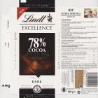 Lindt srednie excellence 0 78 cocoa dark new