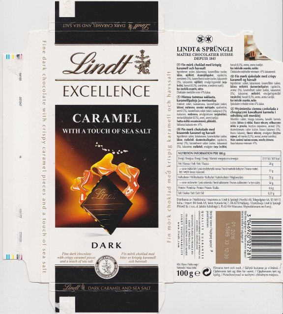 Lindt srednie excellence 1 caramel with a touch of sea salt dark