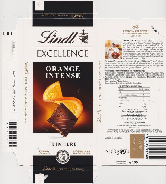 Lindt srednie excellence 1 orange intense feinherb