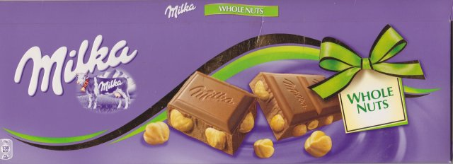 Milka duze kokarda whole nuts 138kcal