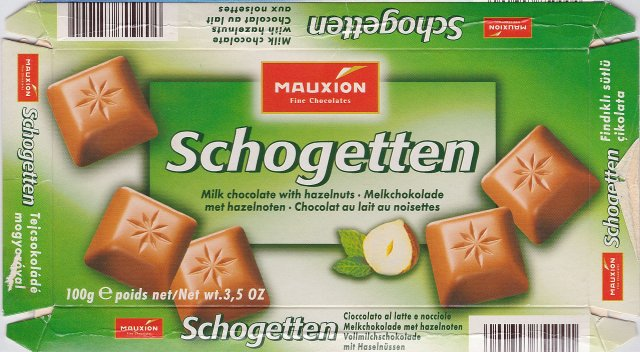 Schogetten Mauxion male 1 Milk chocolate with hazelnuts Melk