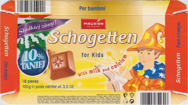 Schogetten Mauxion male 4 for Kids Slodkiej zimy