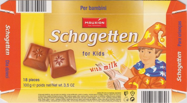 Schogetten Mauxion male 4 for Kids