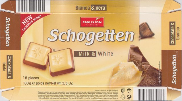 Schogetten Mauxion male 5 Milk & WhiteNew improved recipe