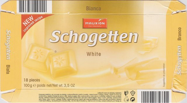 Schogetten Mauxion male 5 White New improved recipe