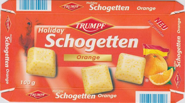 Schogetten Trumpf male 13 Orange Holiday Neu kalt geniessen