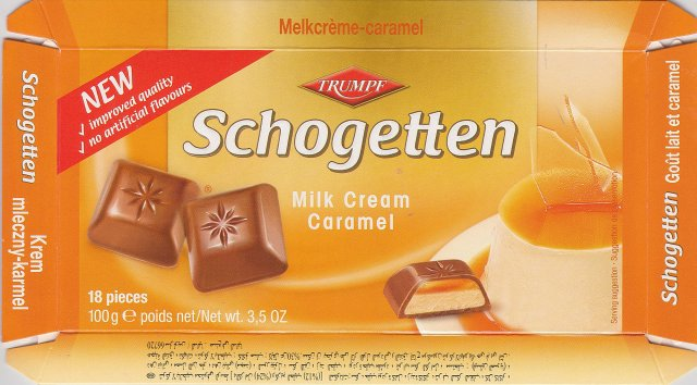 Schogetten Trumpf male 15 Caramel New improved quality no artificial flavours