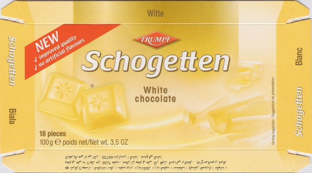 Schogetten Trumpf male 15 White chocolate New improved quality no artificial flavours