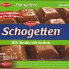 Schogetten Trumpf male 21 Milk Chocolate with Hazelnuts Selected ingredients No artificial flavours