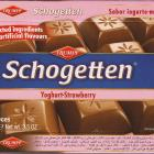 Schogetten Trumpf male 21 Yoghurt-Strawberry Selected ingredients No artificial flavours