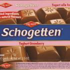 Schogetten Trumpf male 22 Yoghurt-Strawberry Selected ingredients With natural flavours