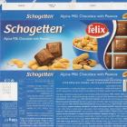 Schogetten Trumpf srednie 10 alpine milk chocolate with peanuts felix