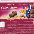 Schogetten Trumpf srednie 10 dark chocolate with peanuts felix