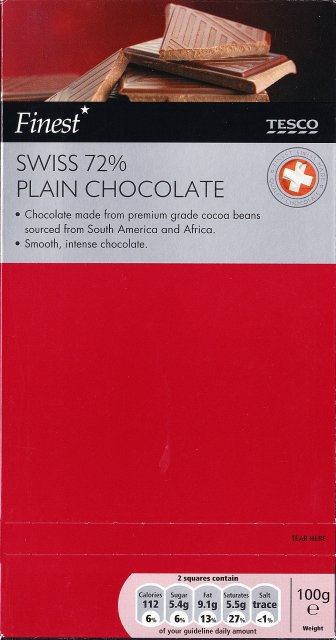 Tesco 2 Swiss plain chocolate 72 112 kcal_cr