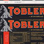 Toblerone dark chocolate with honey and almond nougat 100g