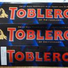Toblerone dark chocolate with honey and almond nougat