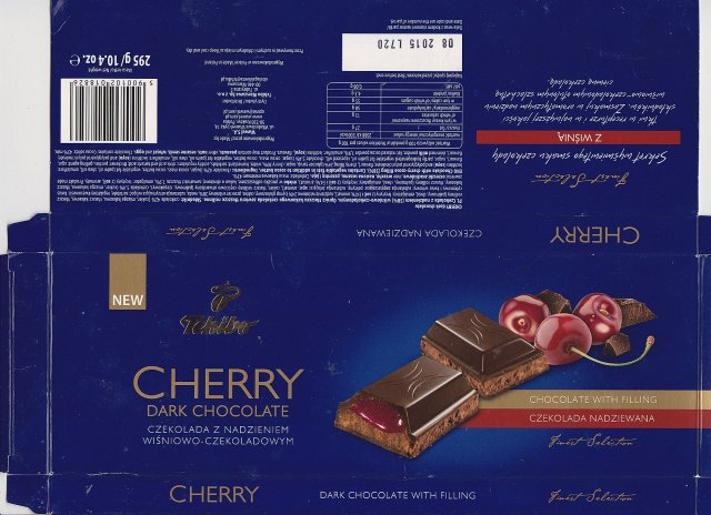 Wawel Tchibo cherry dark chocolate